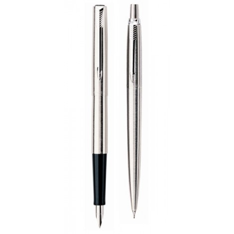 Набор Parker Jotter Stainless Steel CT FP PCL (перьевая ручка + карандаш)