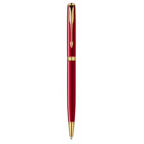 Шариковая ручка Parker Sonnet  Slim Laque Ruby Red GT BP 85 931R