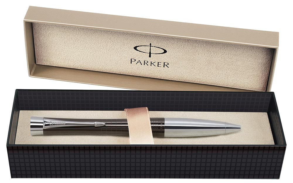 Ручка шариковая Parker Premium Ebony Metal Chiselled BP 21 232Ч